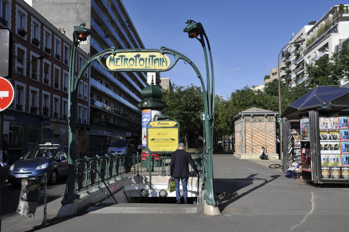 Metro Guimard Avron Parijs